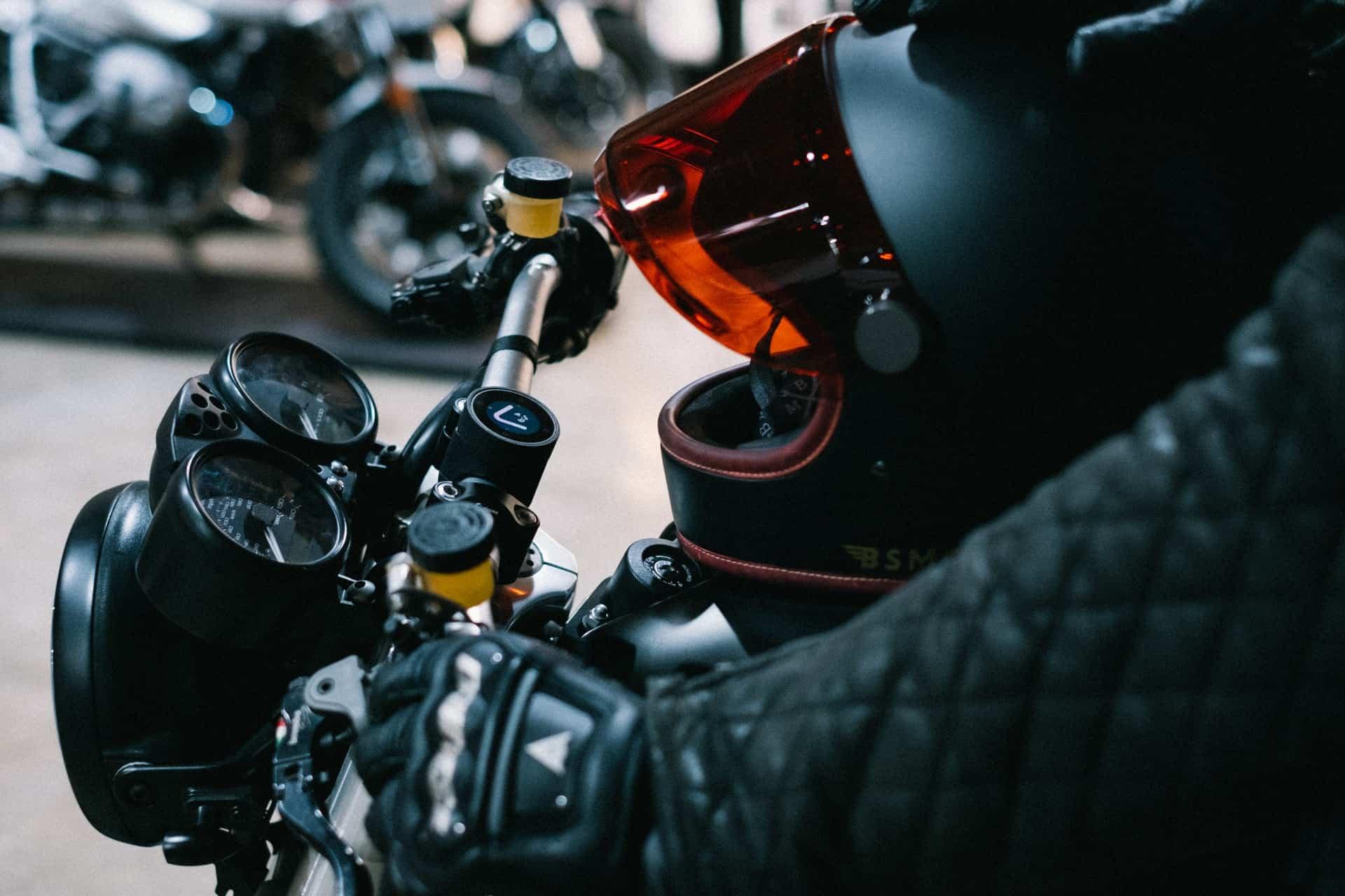 black gloves motorcycle