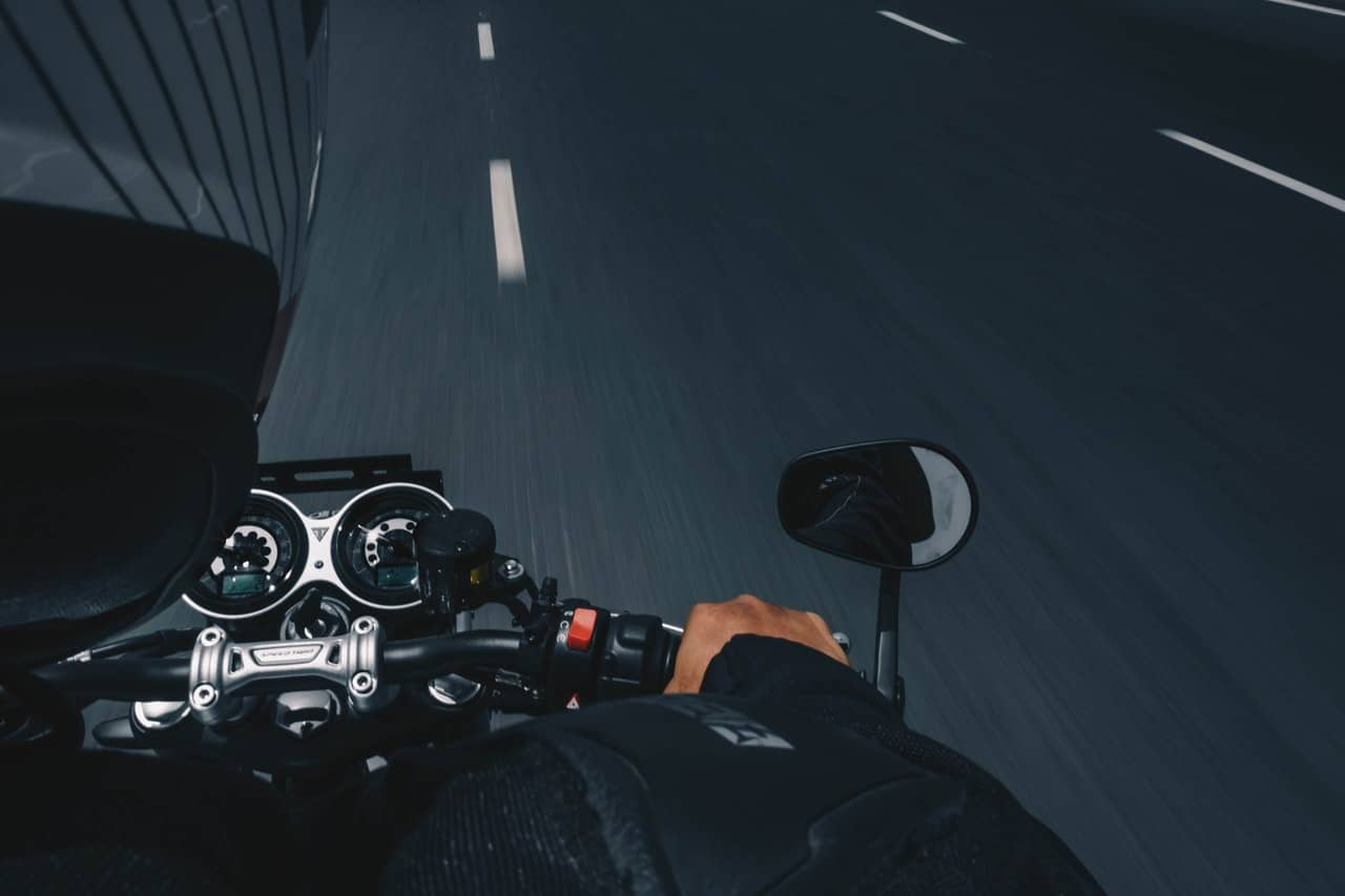 black gray biker
