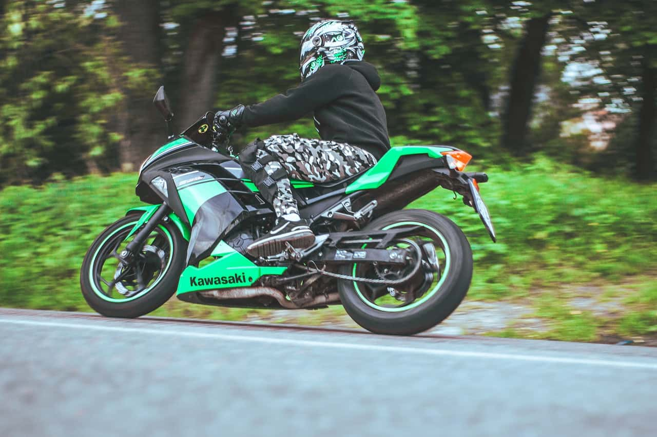 black green helmet motorcycle