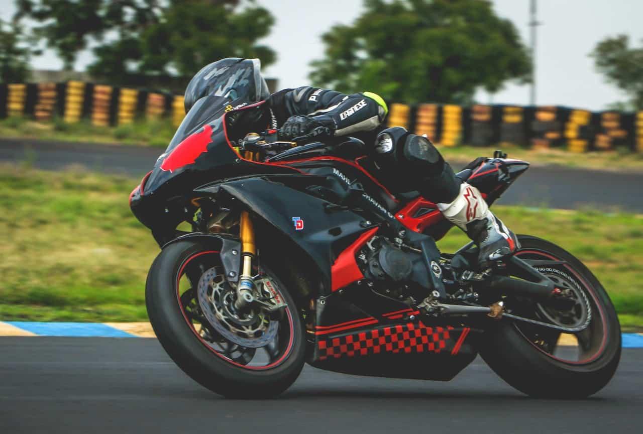 black red motorcycle