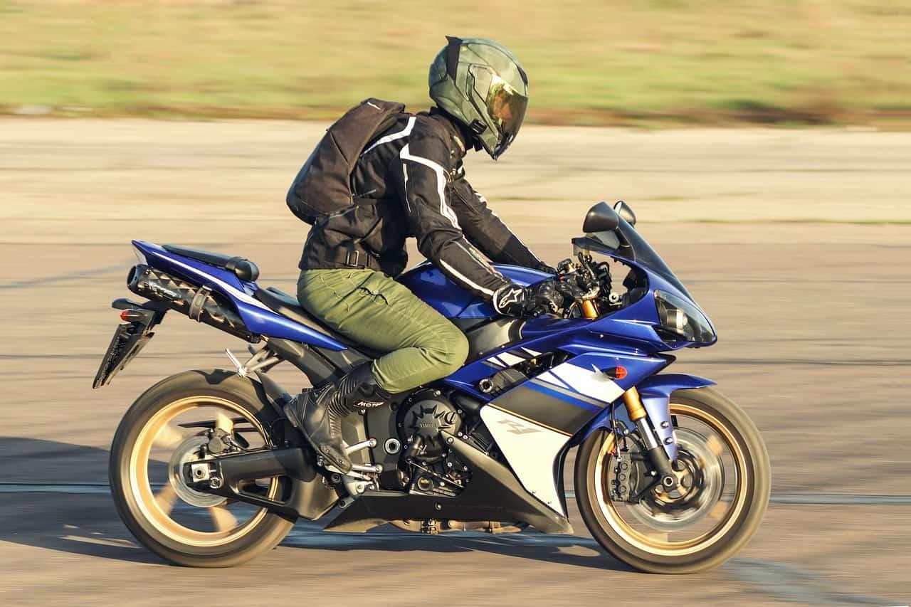 blue bike rider