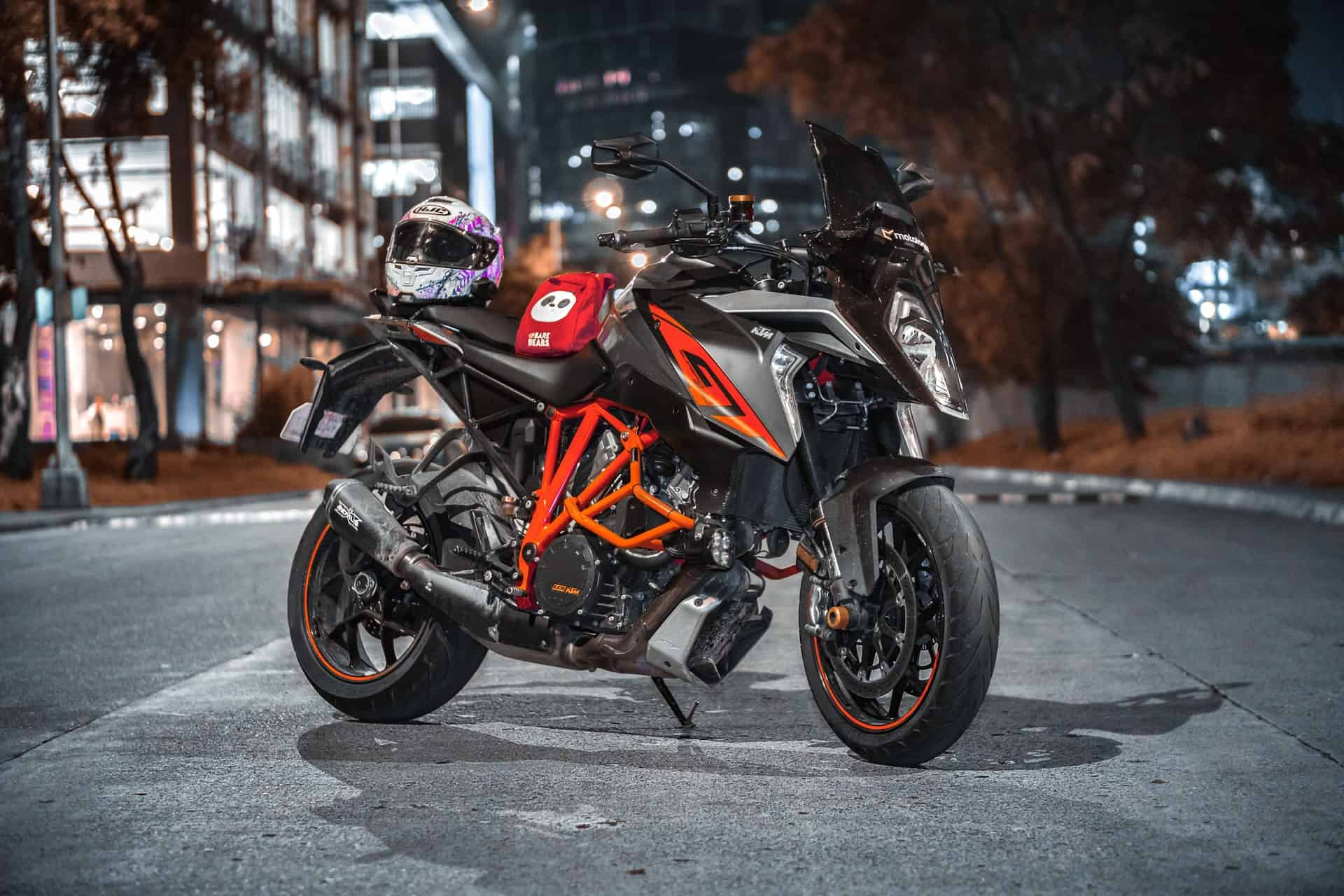 orange black motorcycle