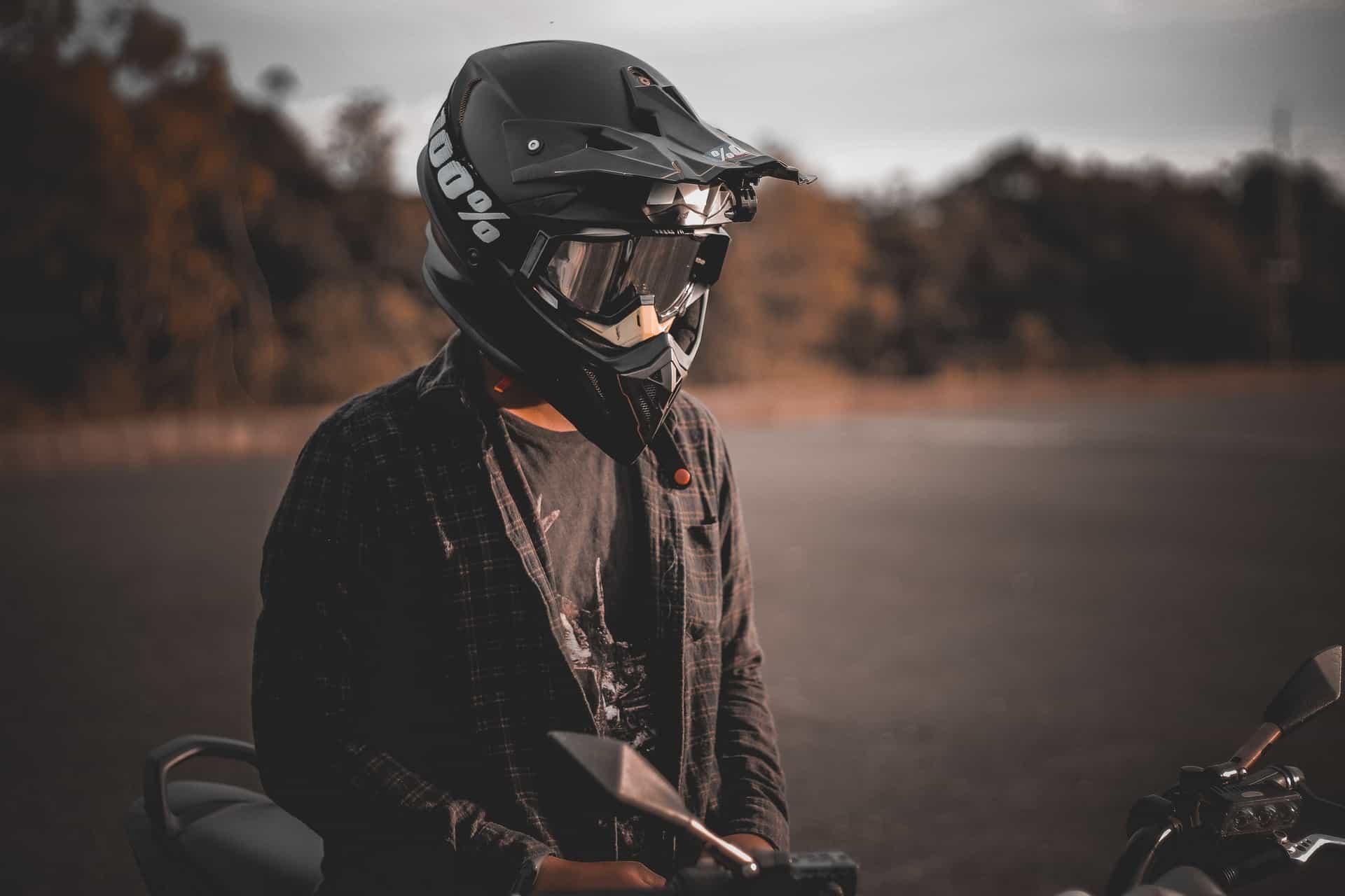 person wearing tactical helmet