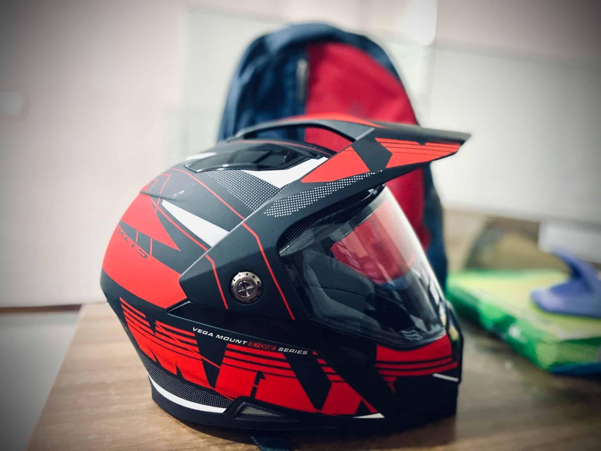 red black helmet kids