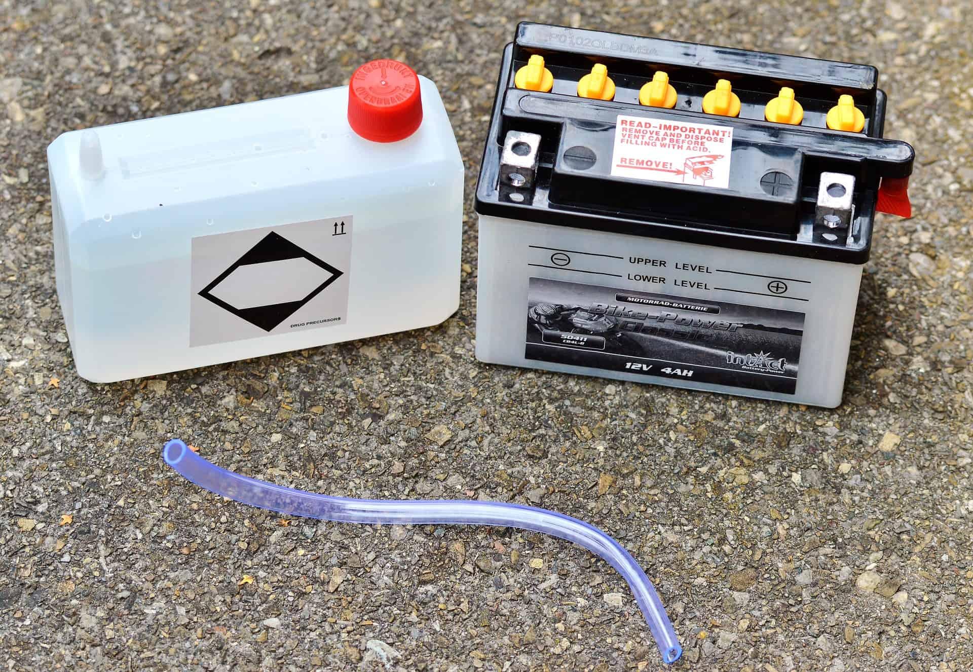 battery motorcycle asphalt