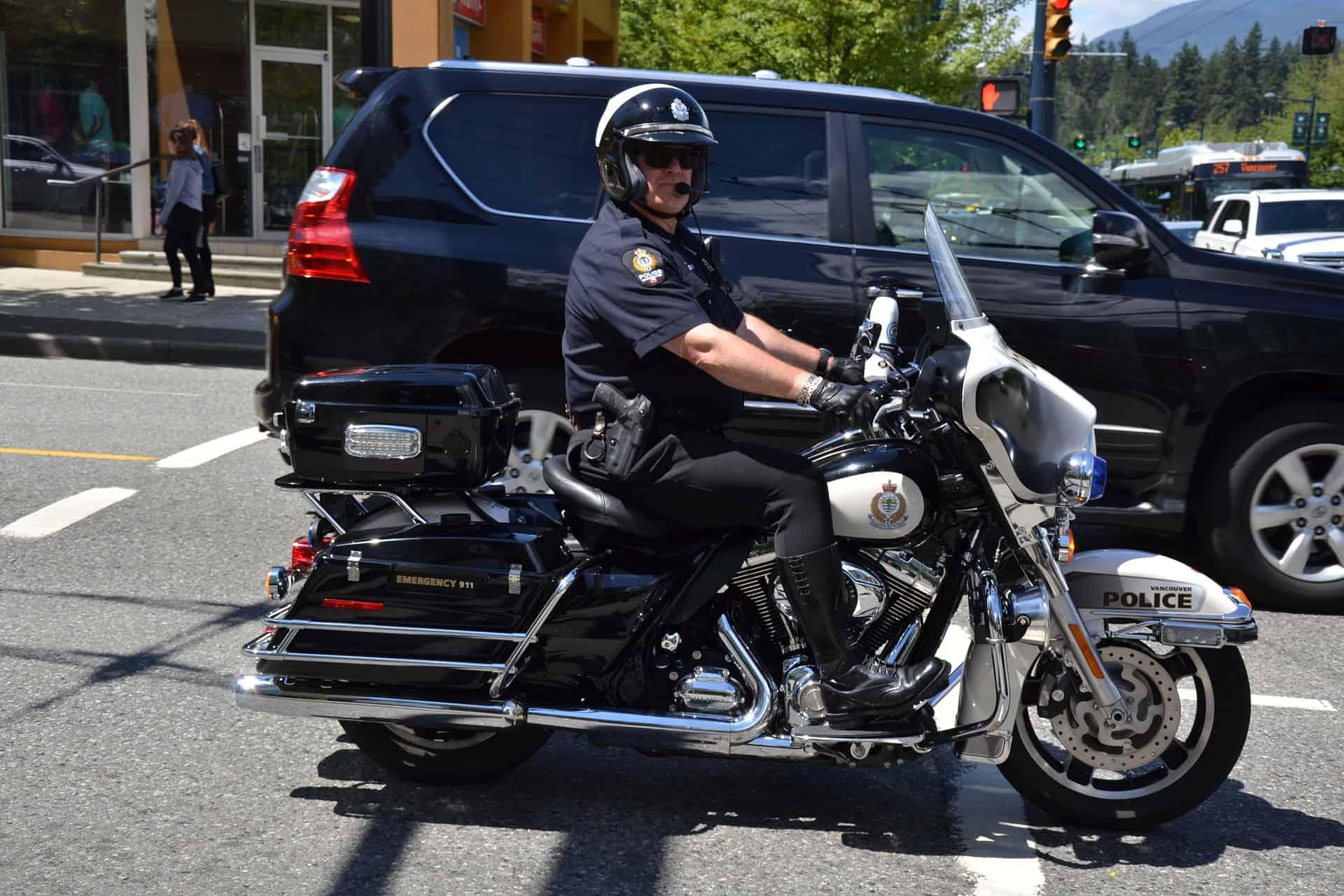 police rider bike intercom