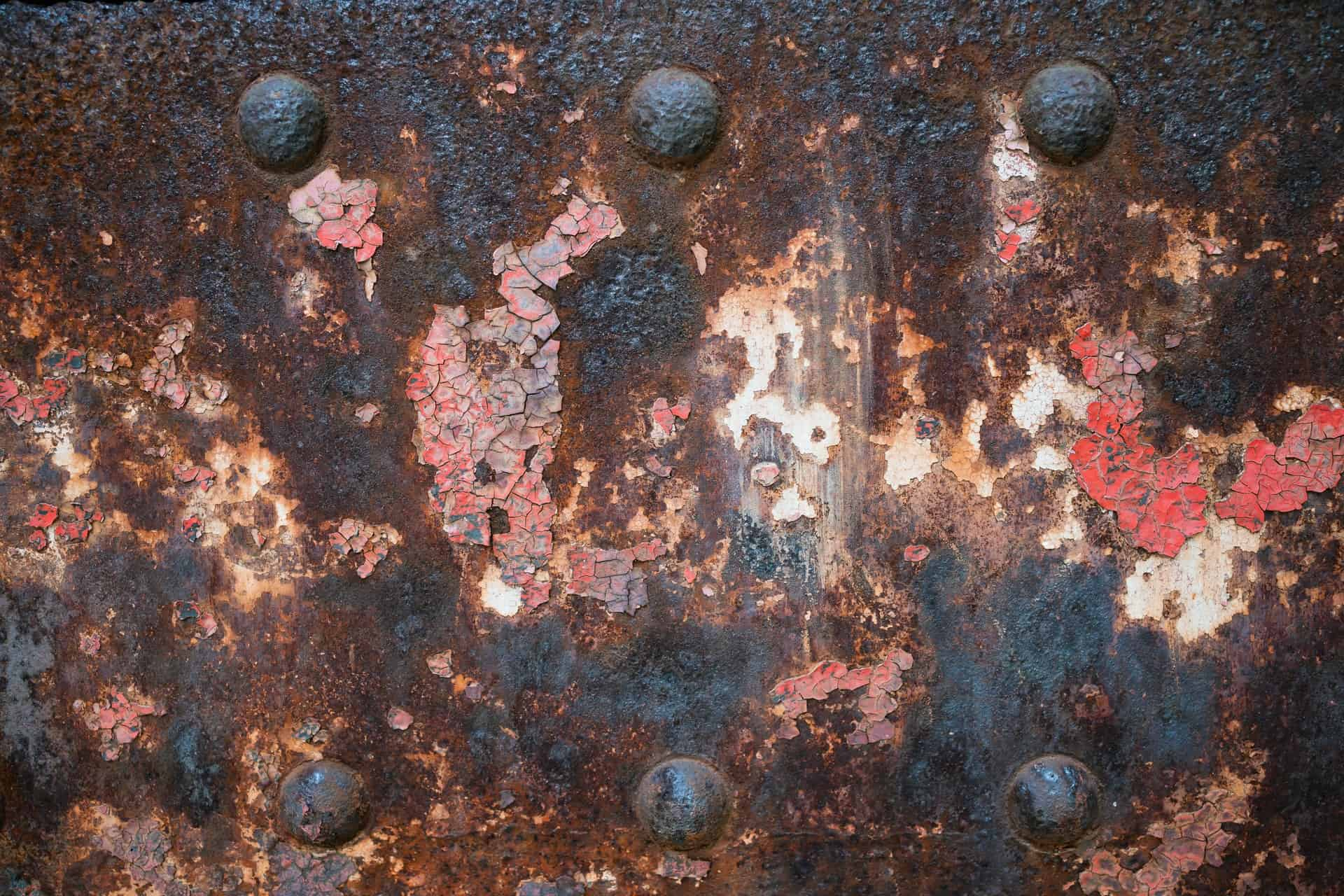 rust metal close up