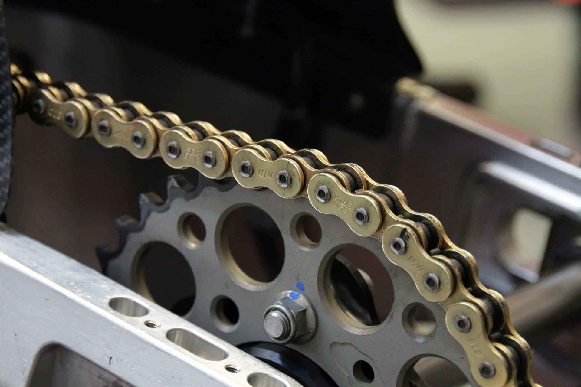 chain motorcycle close up