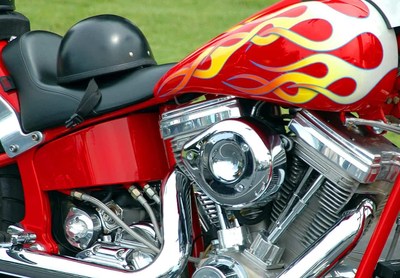 engine close up bike