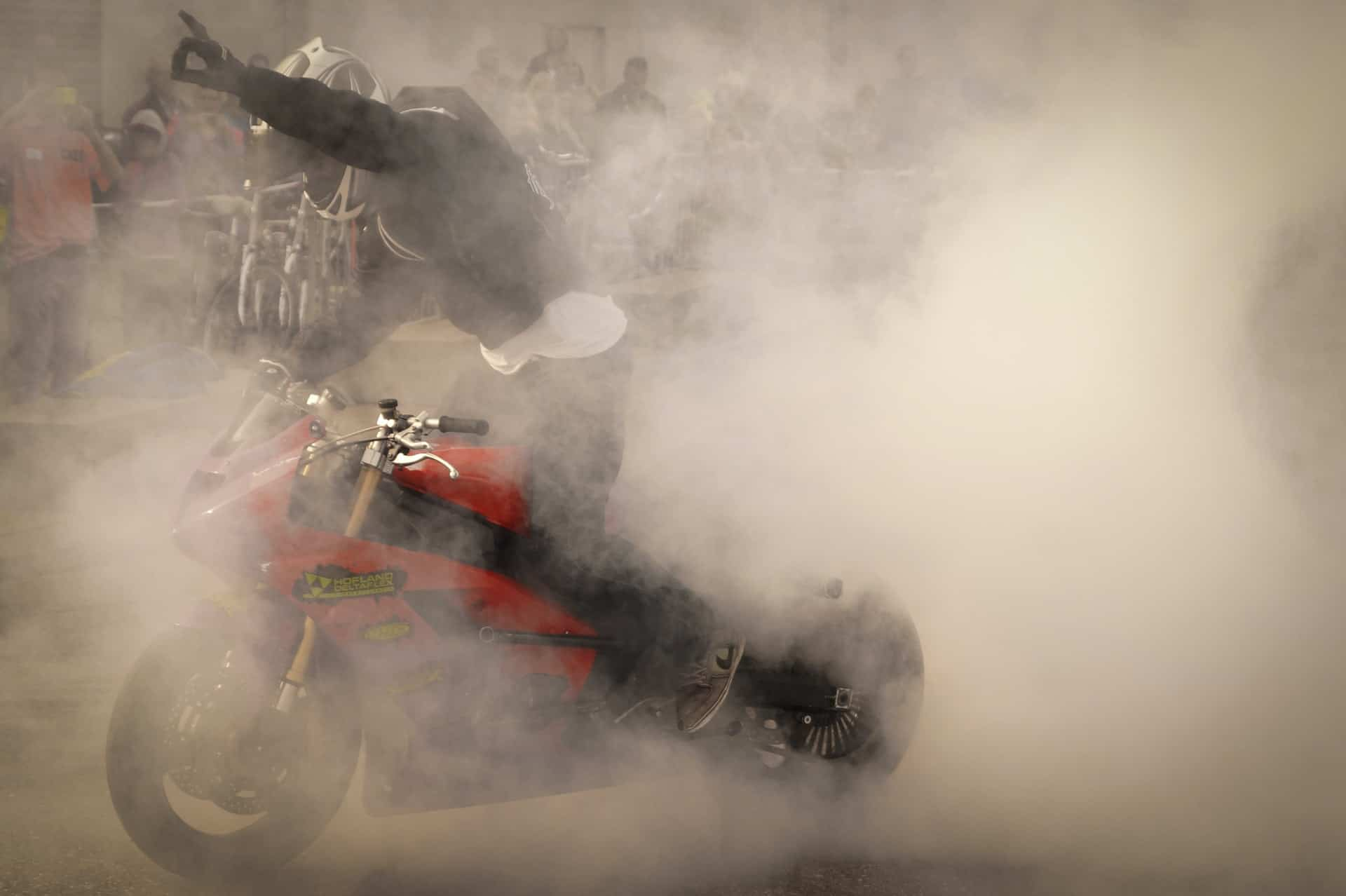 excess smoke motorcycle
