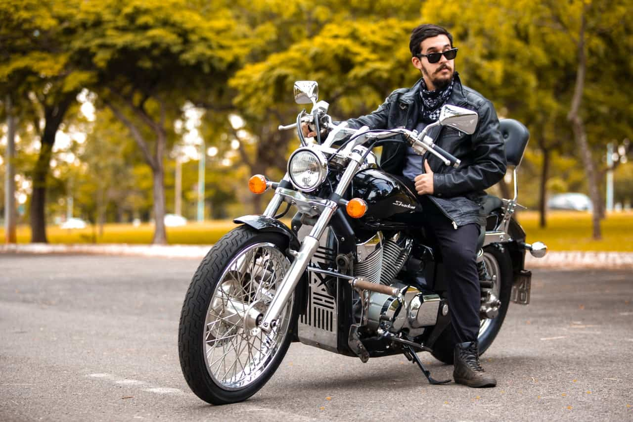 full gear man motorcycle