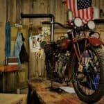 garage motorcycle repair