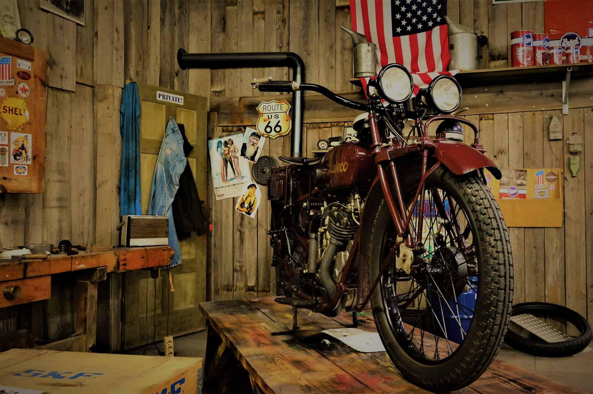 garage motorcycle repair