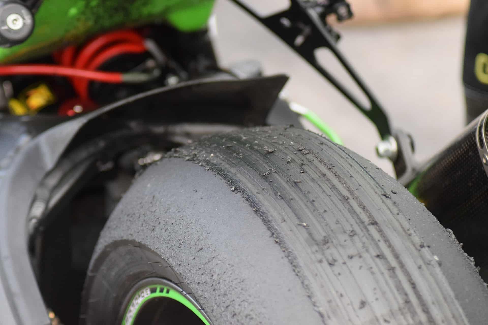 green black tire