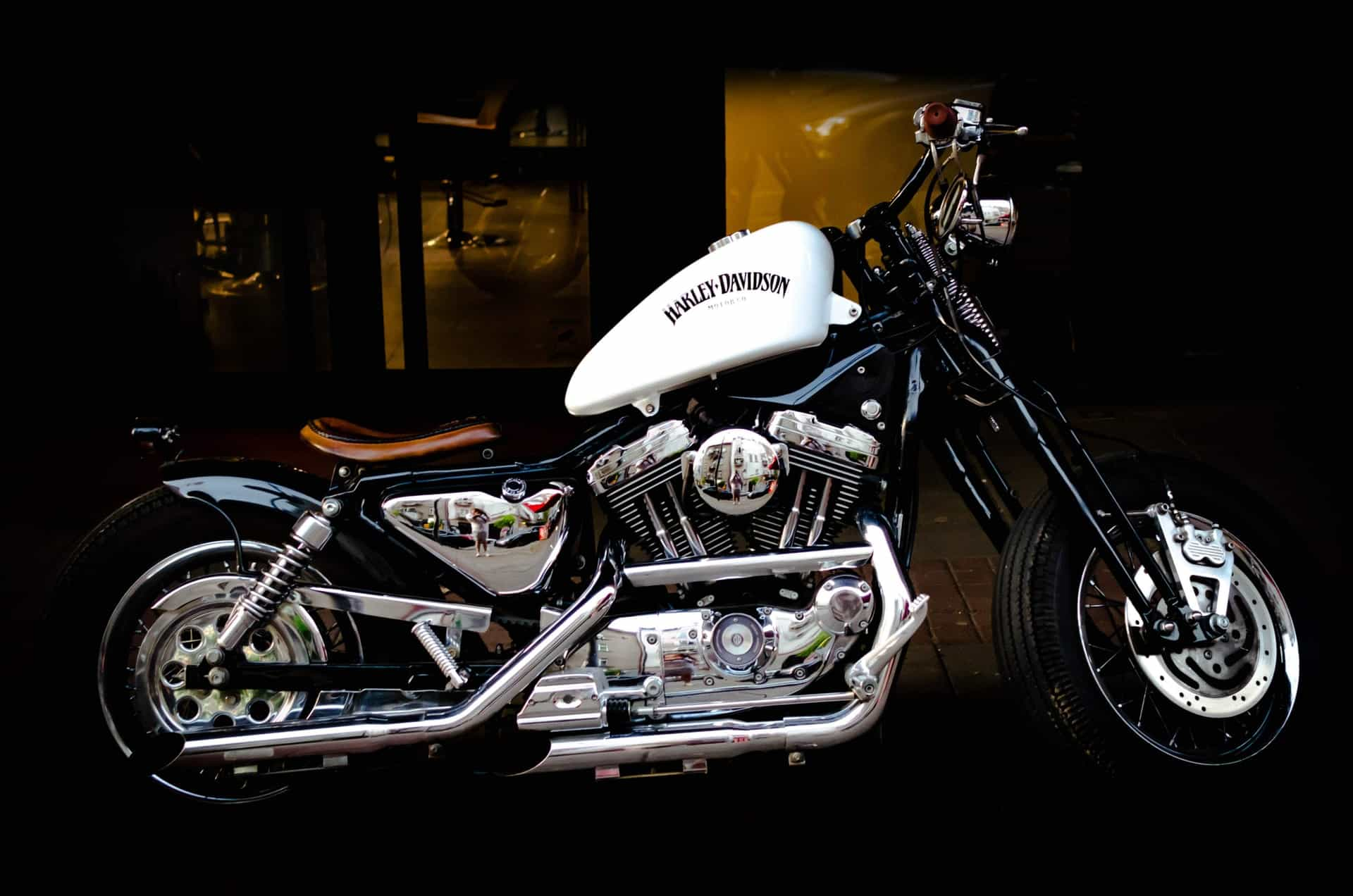 harley davidson secondhand white
