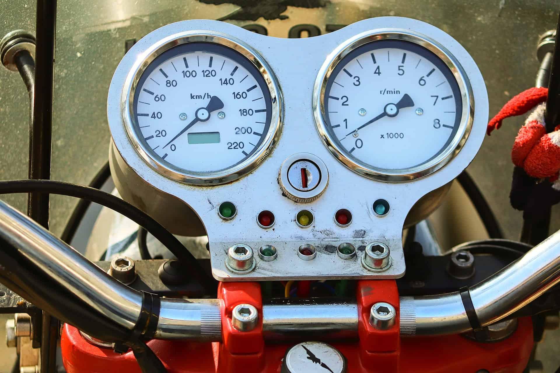 meter motorcycle broken