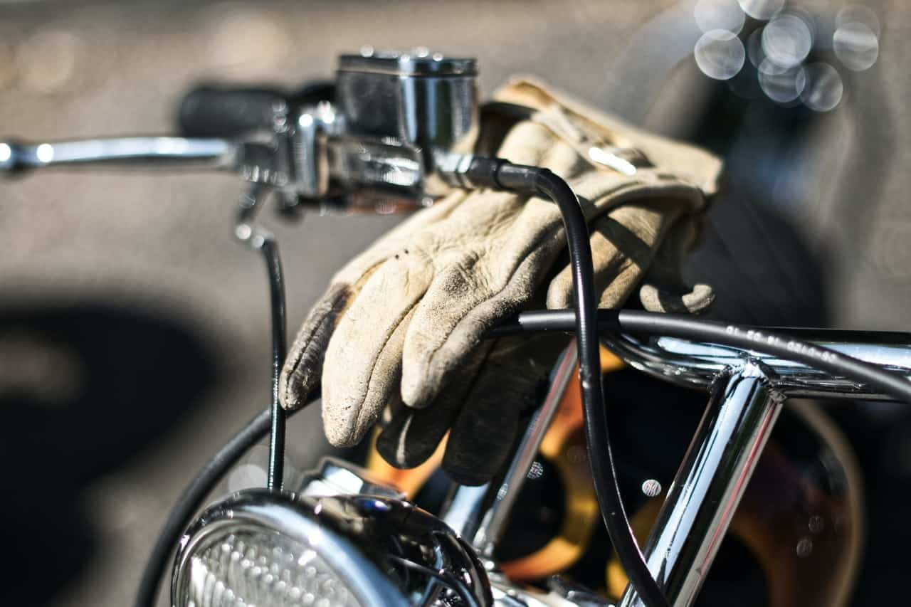 motorcycle gloves sunlight