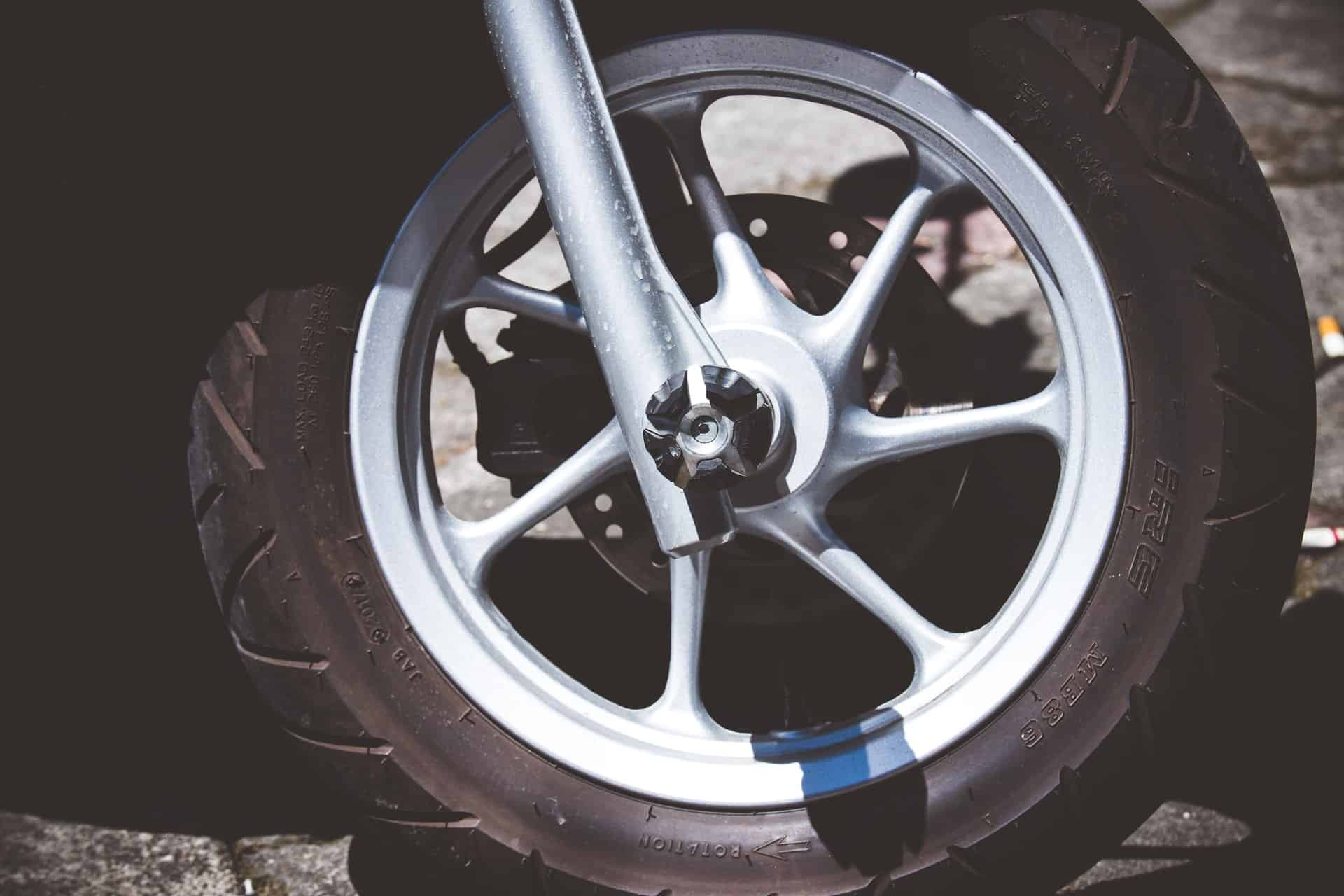 motorcycle tire close