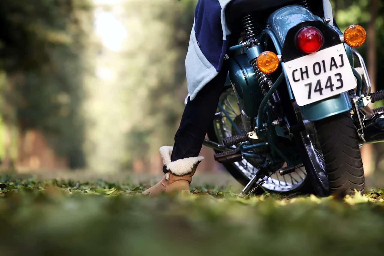 full gear motorcycle biker