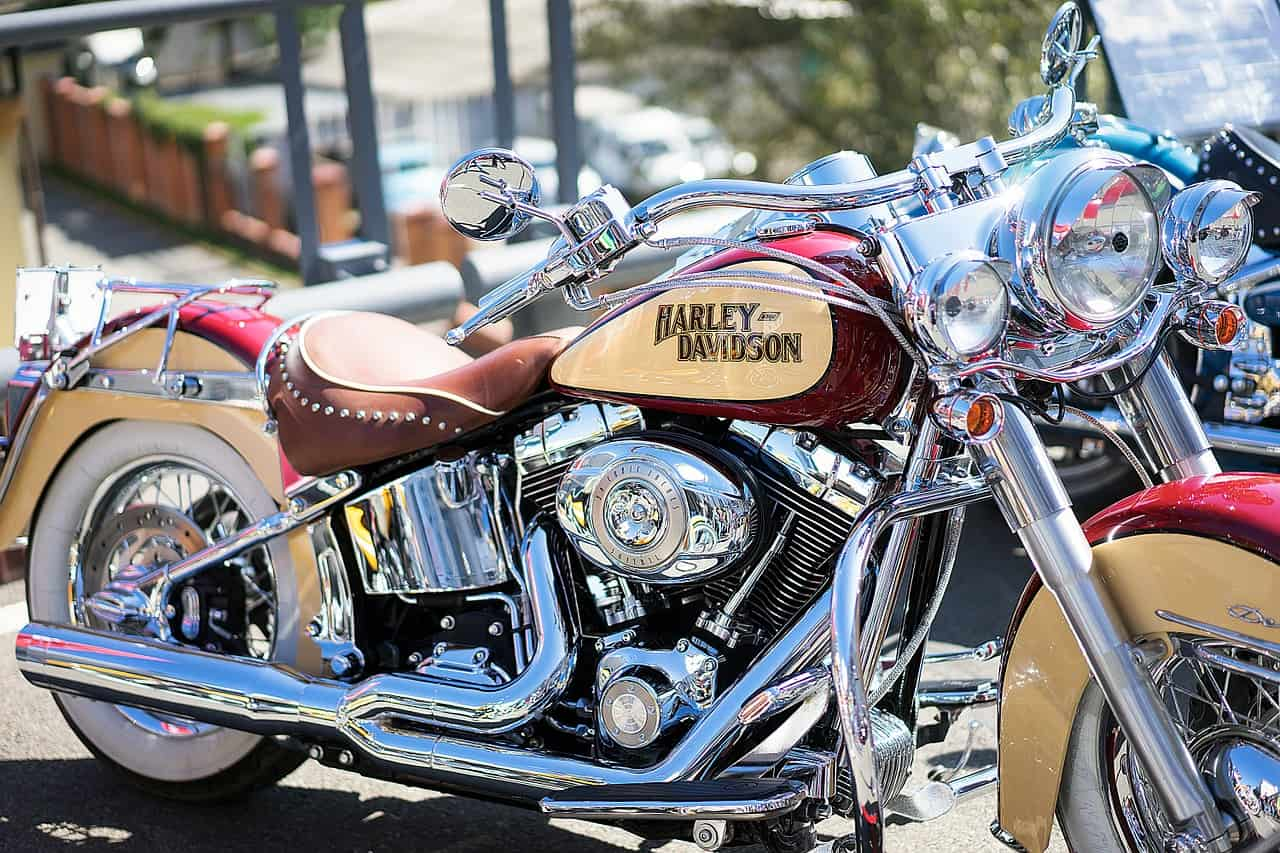 shiny harley motorcycle