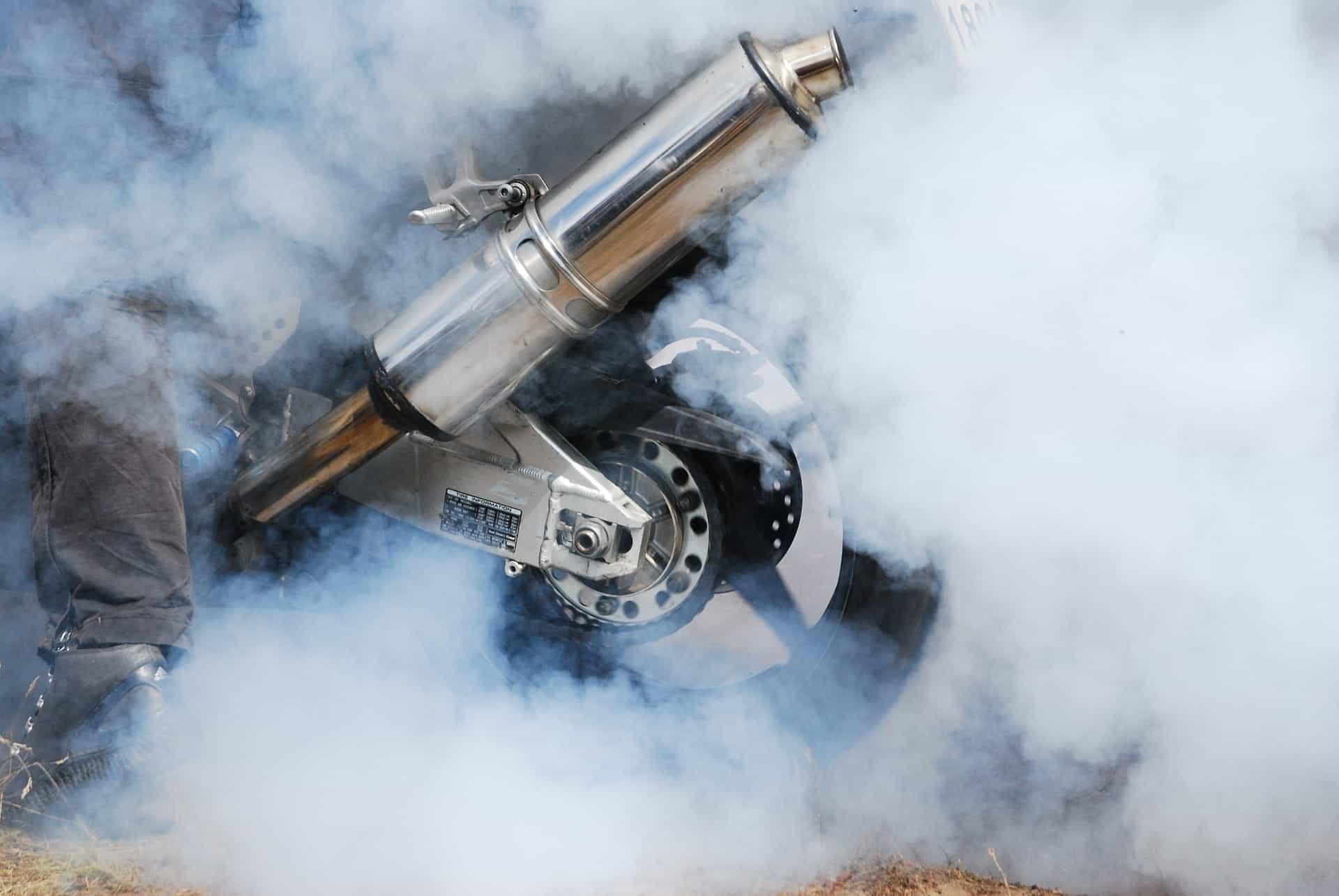 smoke exhaust motorcycle