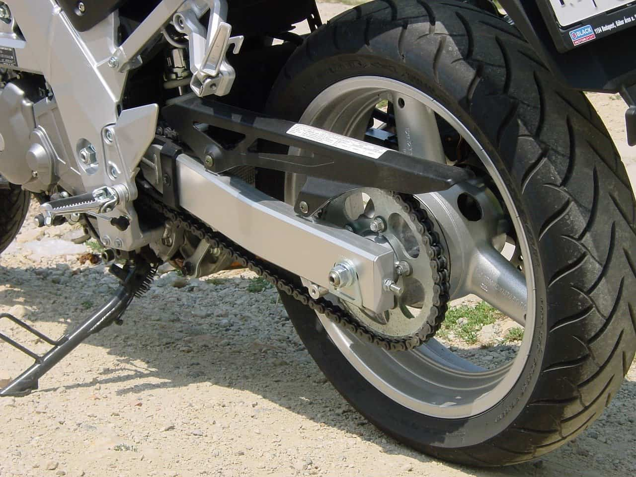 tire motorcycle asphalt