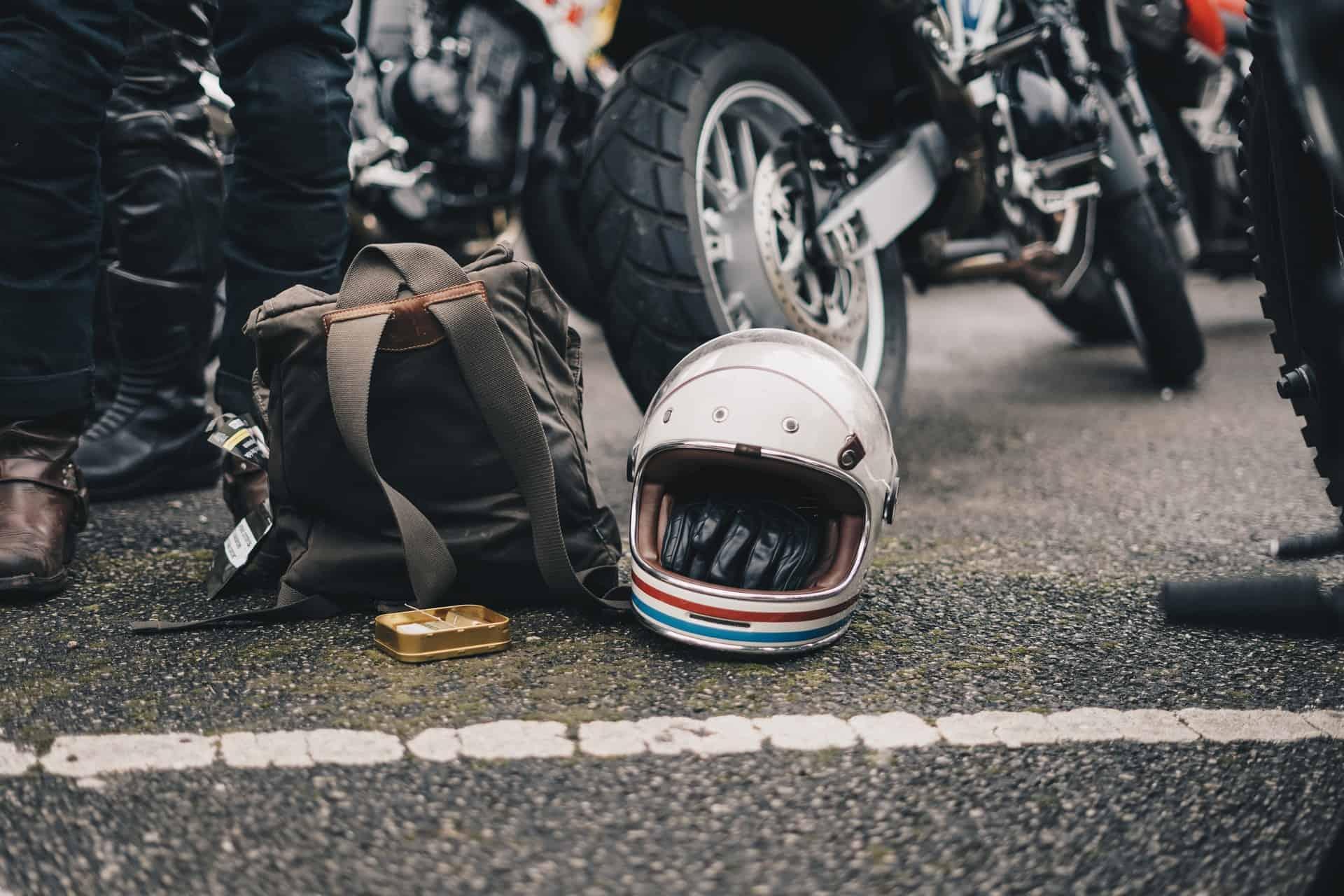 white helmet ground