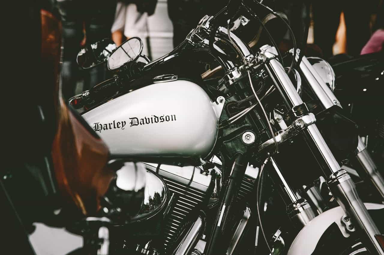 white motorcycle engine