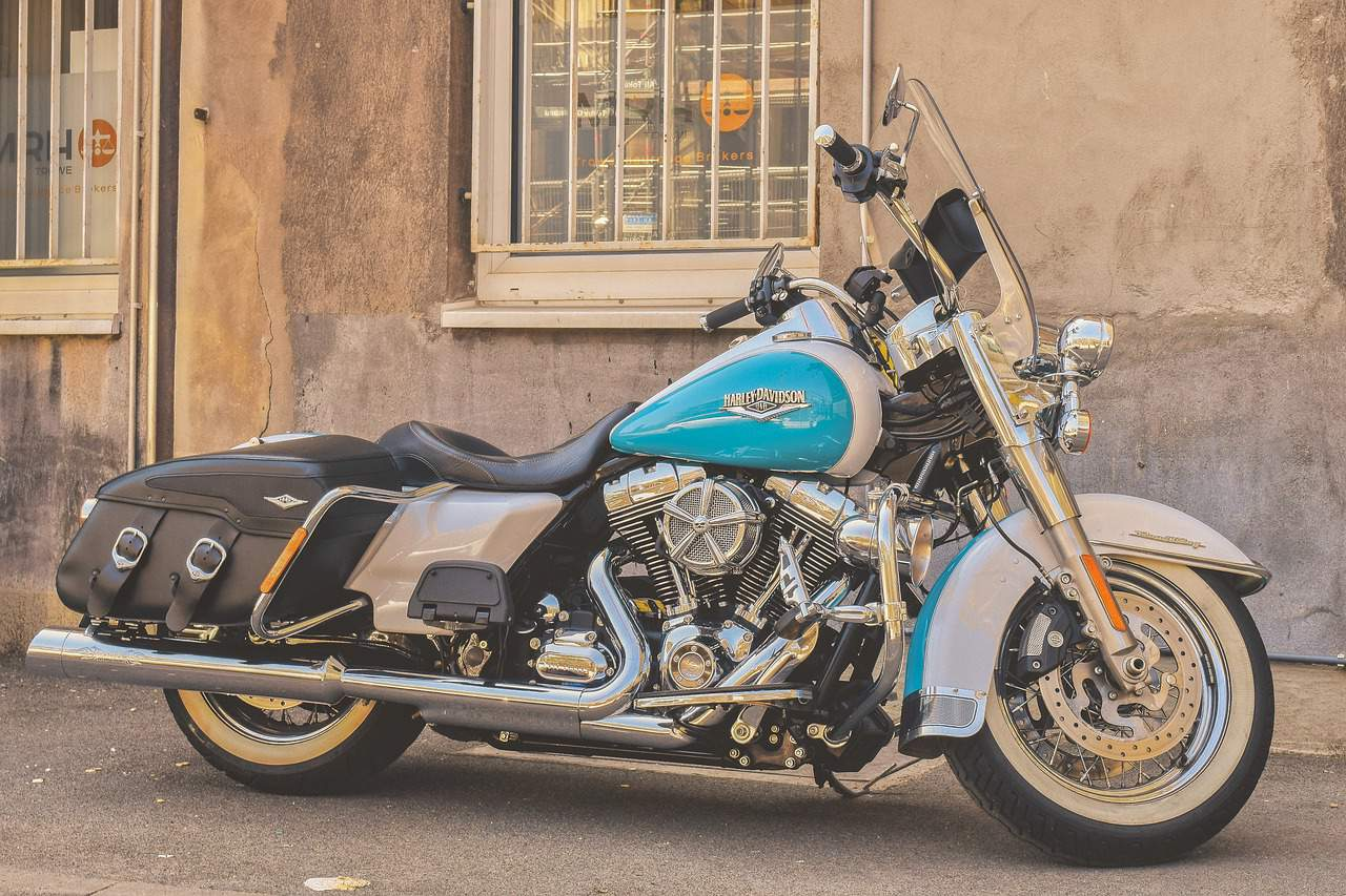 blue black harley