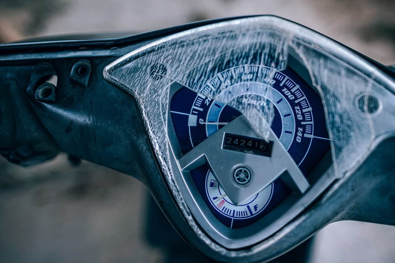 exterior meter motorcycle