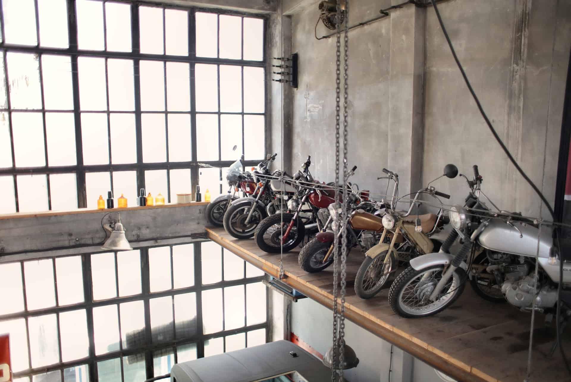 motorcycle transported garage