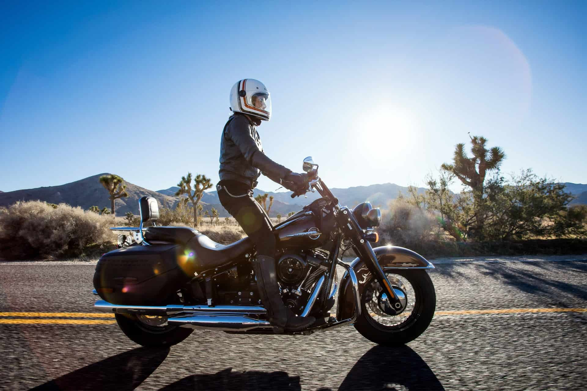 rider standing sunny day