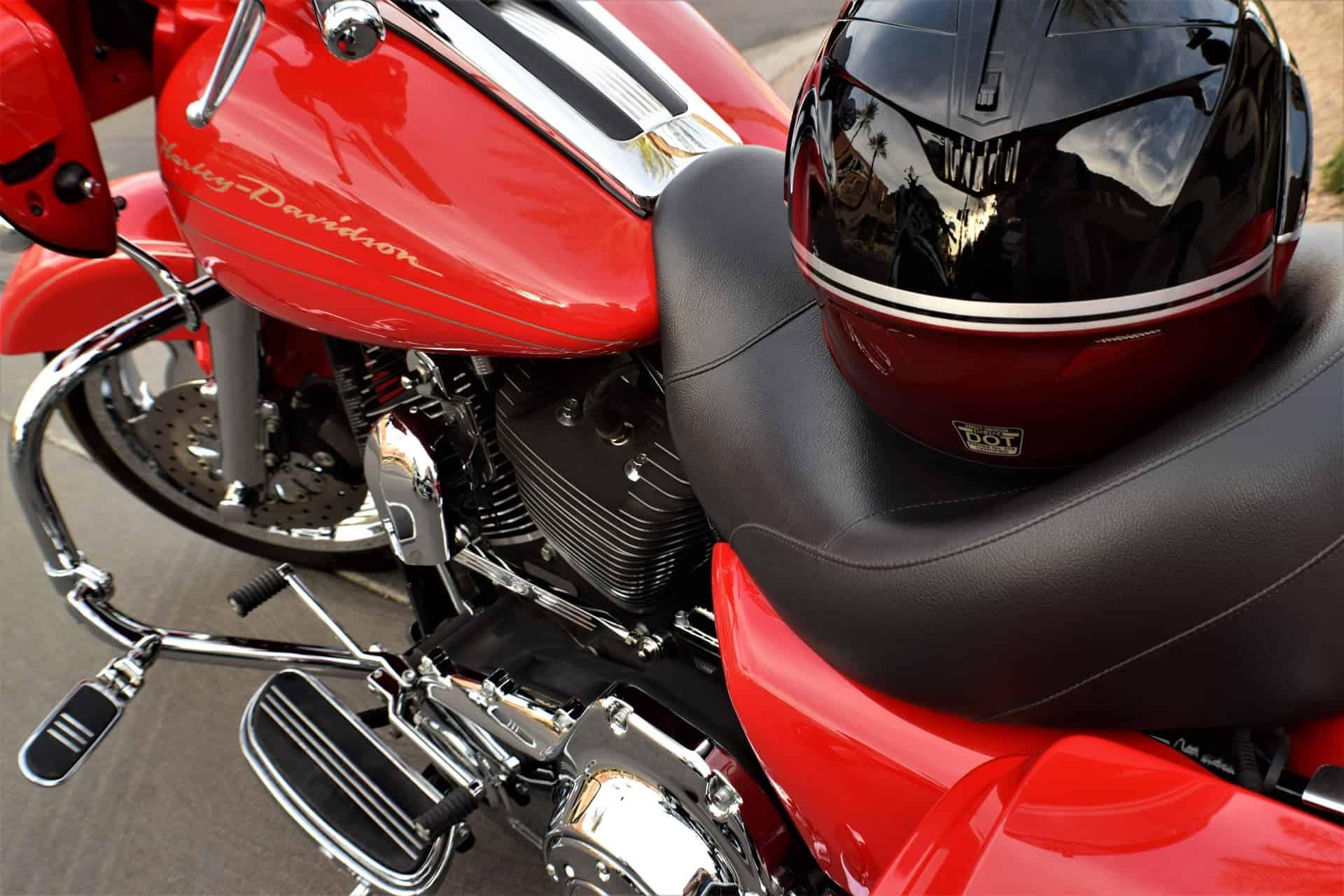 red black motorcycle