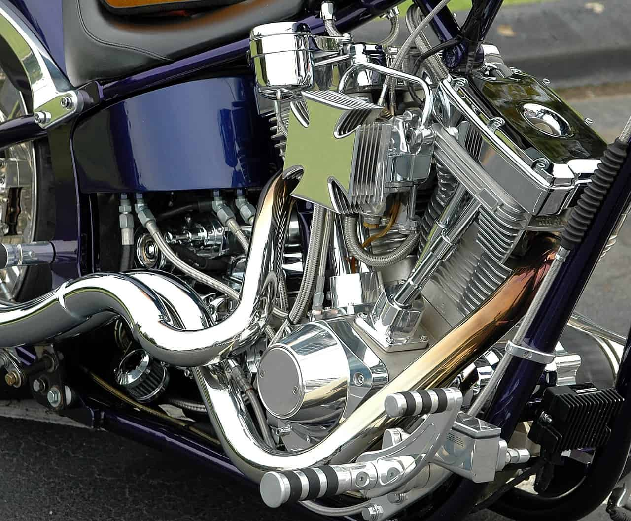 shifter motorcycle silver