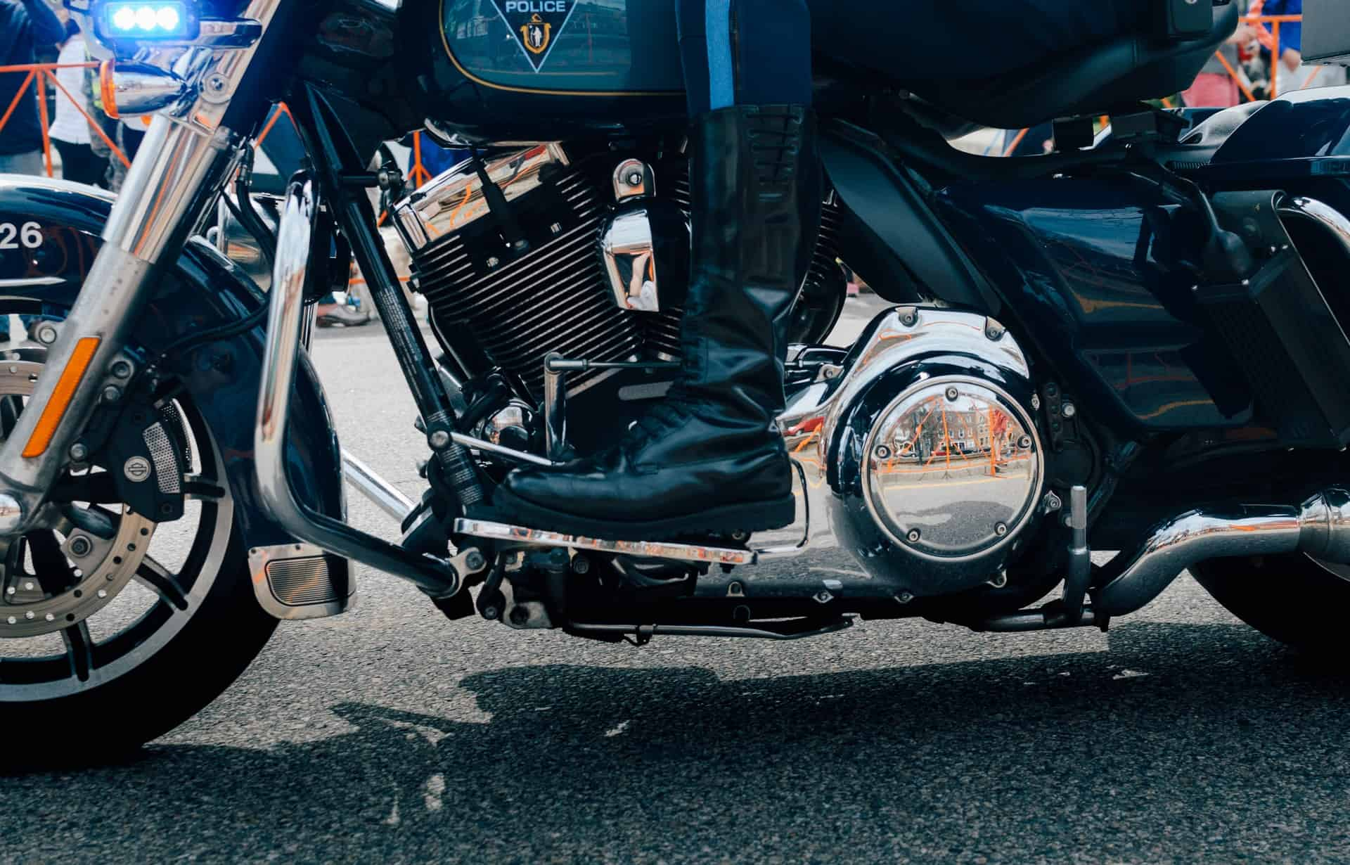 motorcycle boots close