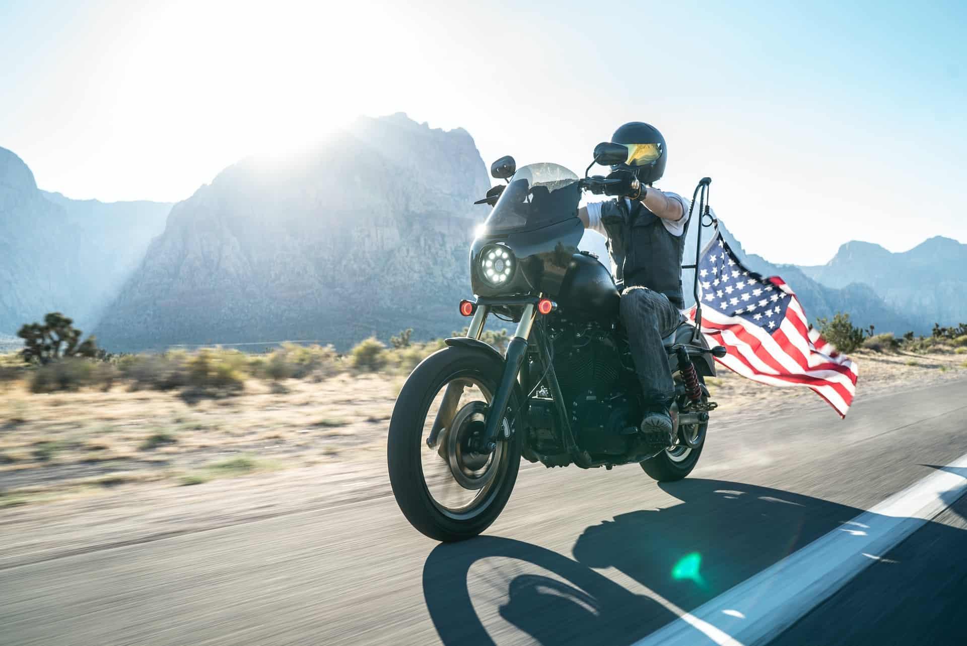 usa flag motorcycle