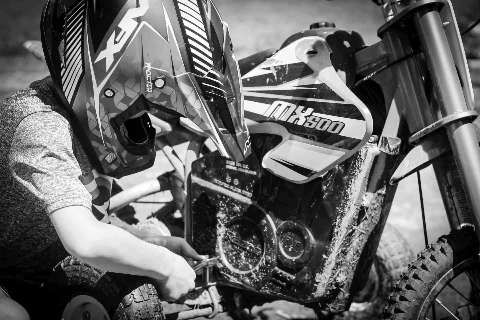 boy dirt bike repair