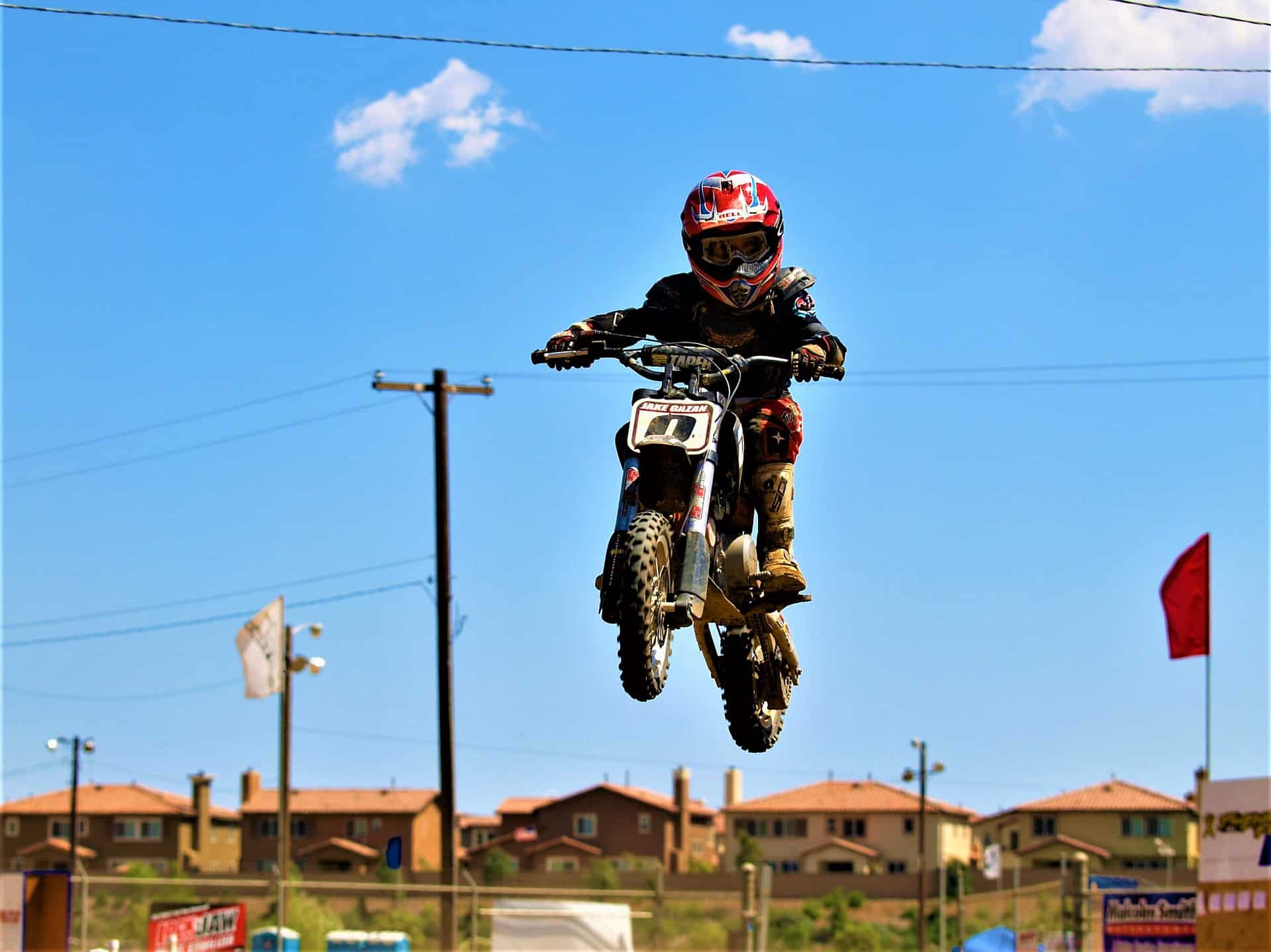 dirt bike kid stunt