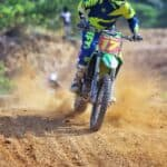 driving dirt bike