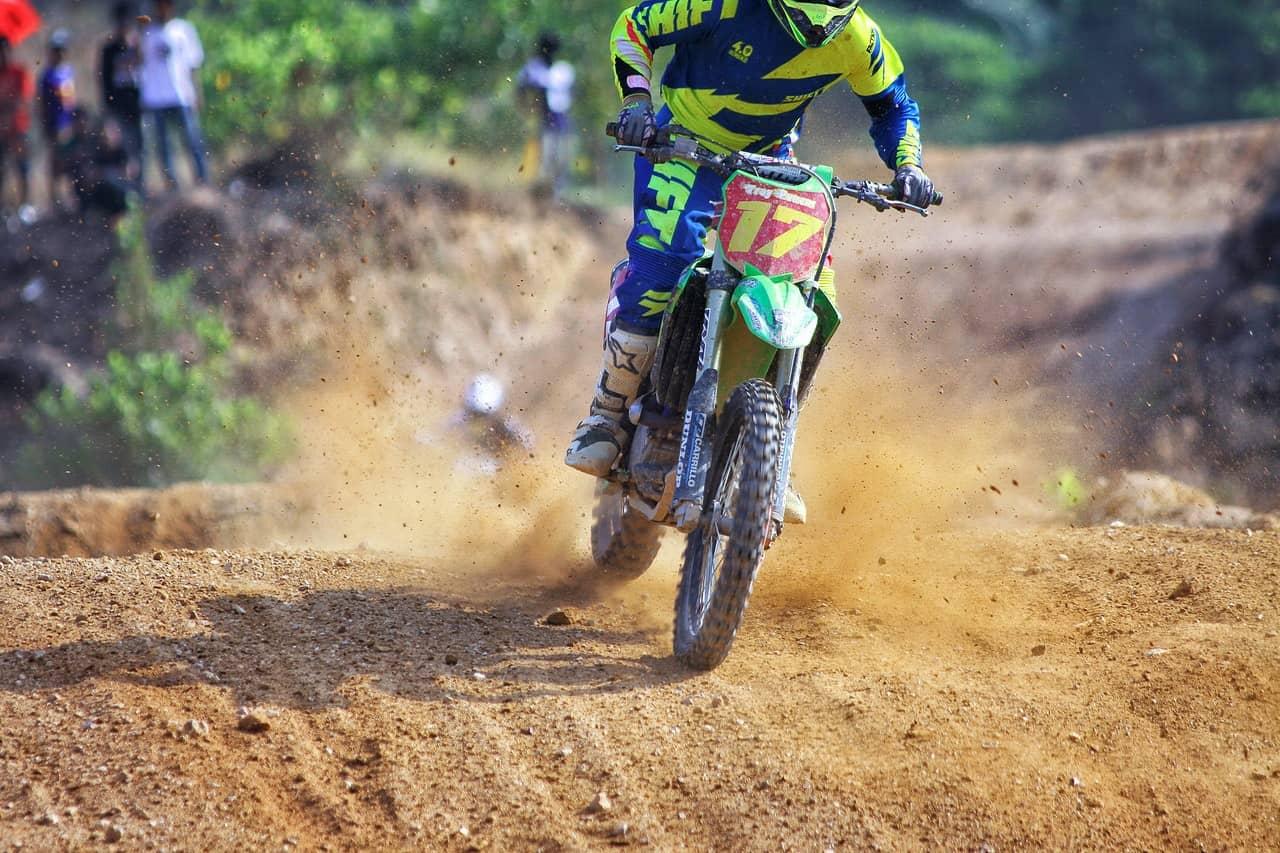 driving dirt bike